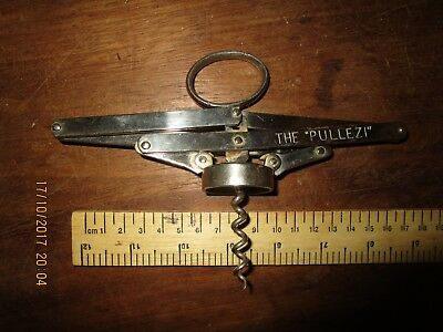 Antique Heeley's Original patent 'Pullezi' Corkscrew .Heeley's Pullezi Corkscrew