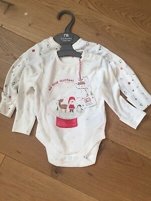 My First Christmas Baby Girl Vests