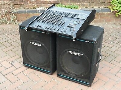 Peavey Xr 800D Powered Mixer & 2 Speakers With Built In Effects Used Bargain