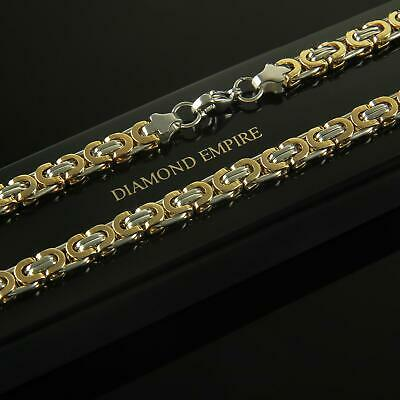 Curb Chain 6 mm 750 18 Kt Gold-Plated Silver Gold Men's K2038-1S