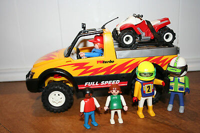 Playmobil 4228 SUV plus Quad Bike + figures