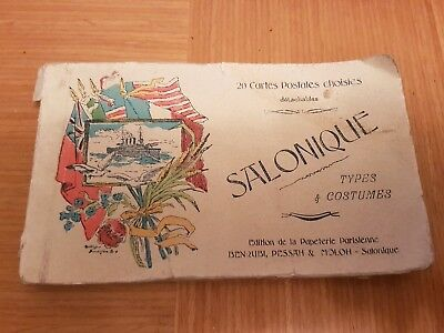 ***SALONIQUE POSTCARDS IN A ALBUM~TYPES & COSTUMES x20 IN TOTAL 1900's SCARCE***