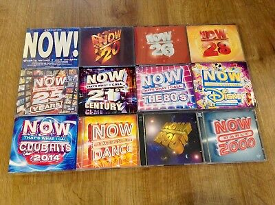 12 x NOW THAT'S WHAT I CALL MUSIC CD'S BUNDLE