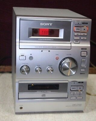 Sony CMT-CP100 Audio Shelf System CD TAPE TUNER AUX in