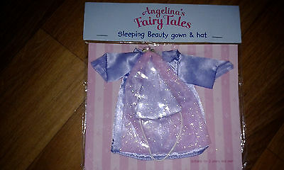 New Angelina Ballerina's Fairy Tales Sleeping Beauty Gown Dress & Hat Clothes