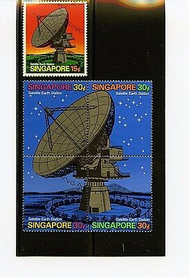 Singapore #142-143 (SI472) Comp 1961 Satellite Earth Station, U, FVF, CV$41.60