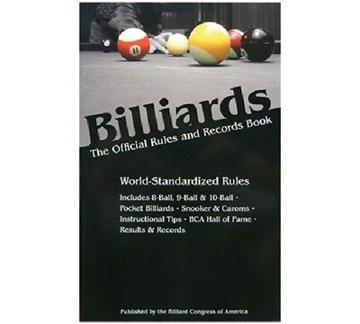 BCA Billiards The Official Rules and Records Book 2011/2012 Edition