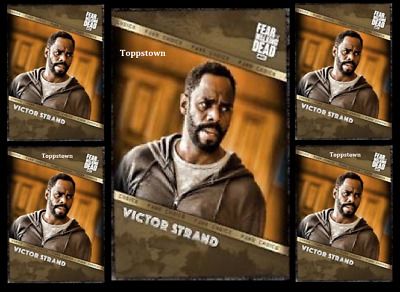 Topps The Walking Dead Card Trader FEAR FAN'S CHOICE VICTOR STRAND 5x DIgital