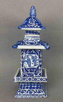 Chinese Handmade Decorative Porcelain Paint Figures Flower Lucky Fine Pagoda Pot