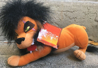 Very RARE Disney The Lion King Slinking Scar Plush by Applause 11""