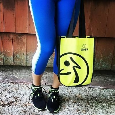 NEW ZUMBA Fitness Logo Shopping Tote Shoe Bag - Love Convention Travel Gym ZIN