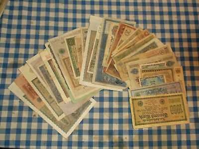 32 banknotes of Germany - all different designs - no reserve