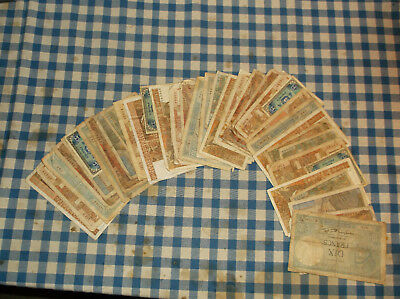 43 banknotes of France - no reserve