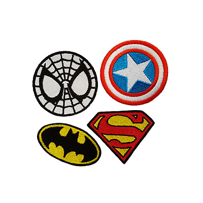 Superheroes Embroidered Patches Iron On Jeans Applique Cartoon Jacket Badge Bag
