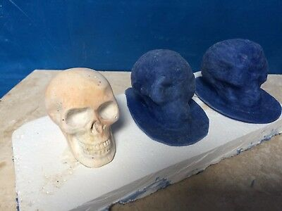 2 latex mould mold moulds of a SMALL skullS
