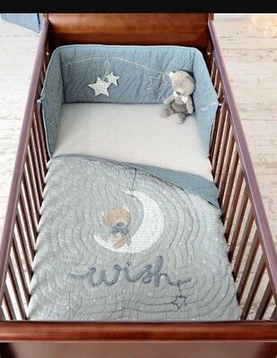 mamas and papas millie and boris Coverlet And Bumper Blue