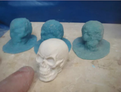 3 latex mould mold moulds of a SMALL skulls