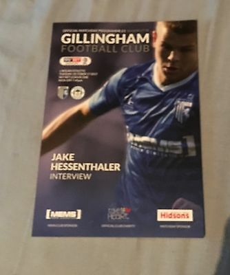 Gillingham v Wigan Athletic Football Programme 17/18 Mint Condition