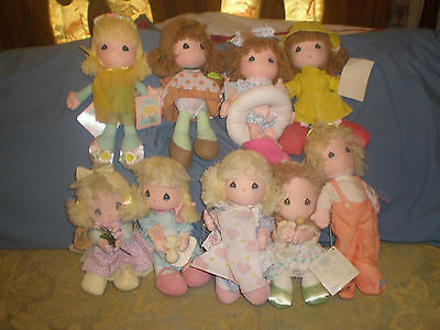 LOT OF 9 - Vintage Rare Precious Moments Dolls CUTE NOS New with tags pmdl#1