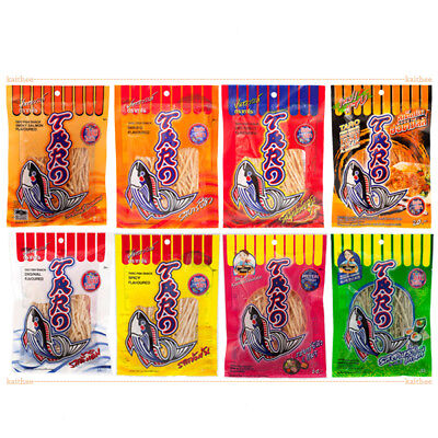 Taro Fish Snack 30g.x 8 Flavour Bar-B-Q Kimchi Salmon Steak Spicy Etc.Thai Halal