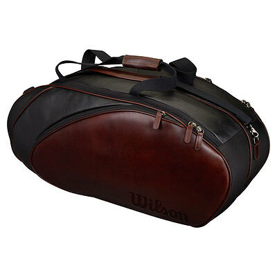 Wilson Premium Leather 6 Pack Tennis Bag