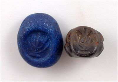 Sassanian stone stamp seal with the image of a plant
