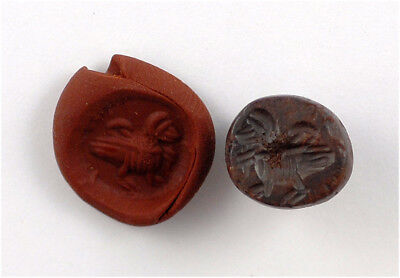 Sassanian stone stamp seal with the image of a duck