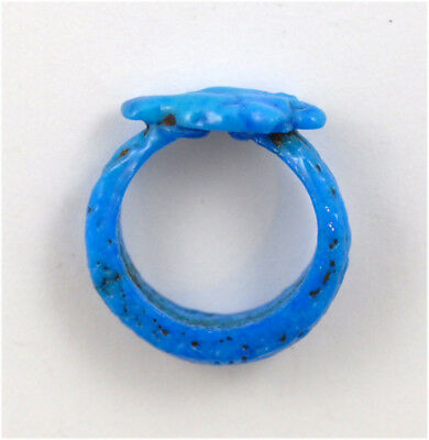 Egypt New Kingdom 18th Dynasty blue faience ring- Amarna Period