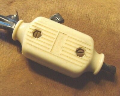Vintage Leviton Plastic Bakelite Lamp Making Electric On/off In Line Cord Switch