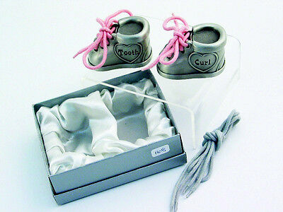 Splash Baby Keepsake Box New 2 Metal Alloy Booties First Tooth & First Curl