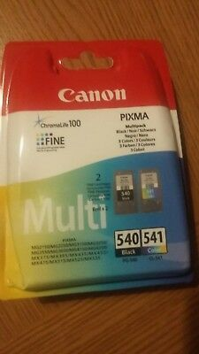 Genuine EMPTY Canon PG 540 Black and CL 541 Colour Ink Cartridges