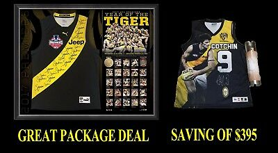 2017 Richmond Tigers Premiership Premiers Signed Jumper + Trent Cotchin Package