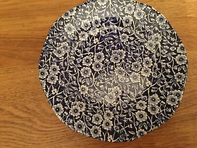 Burleigh Calico Dark Blue Side Or Cheese Plate 19 Cms