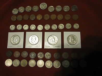Sliver And Collectible US Coin Lot #118 Dimes-Half Dollars,Nickles And Pennies