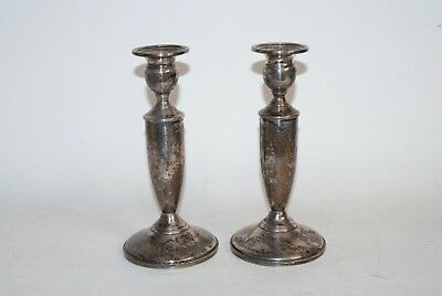 Vintage Pair TOWLE 25oz STERLING SILVER Candlestick Candle Holders 035 Not Scrap