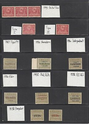 Guatemala 1919-1949 A mint and used Postal Tax  collection.