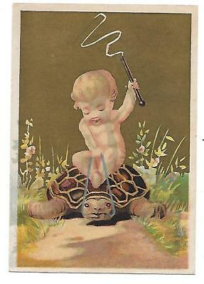 Chas. S. Brackett Victorian Trade  Baby Riding A Turtle  Minneapolis Minn.