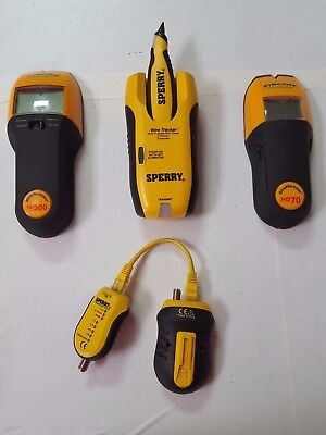 LOT OF Sperry Lan WireTracker Tone and Probe Wire Tracer ZIRCON HD 900 STUD FIND