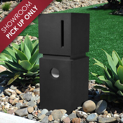 SALE - SAVE $90 Milkcan Sandstone CHARCOAL Letterbox MAILBOX HEAVY PILLAR