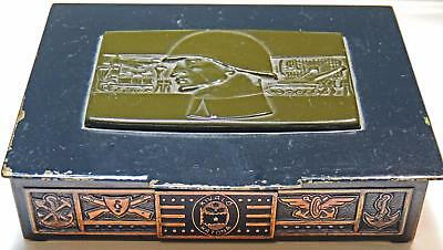 Hungarian Peoples Republic Military Metal Box Excellent Soldier / Kivalo Katona