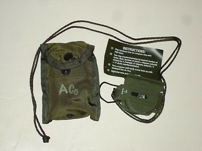 military surplus COMPASS CAMMENGA MODEL 3H MAGNETIC W/CASE  NEW