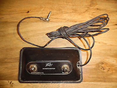 1980's Peavey 2 button footswitch Select/Effects/Reverb * Worldwide Shipping *