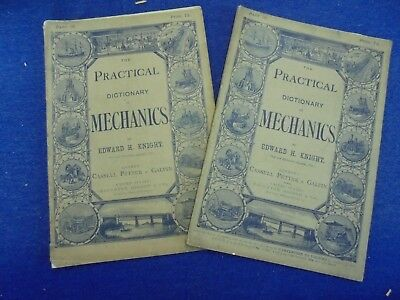 Practical Dictionary Of Mechanics 1877. 2 Issues