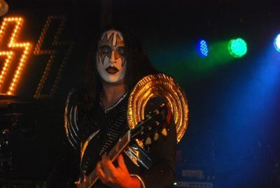 Custom made KISS Ace Frehley Costume Halloween Guitar Strap, Simmons, Stanley