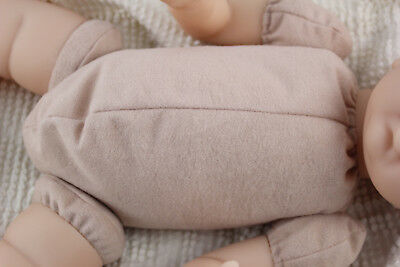 """18-19"""" doe suede reborn baby doll kit body for 3/4 arms & full jointed legs!"""