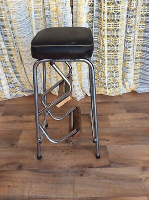 Retro Vintage Step Ladder Stool Very Strong And Sturdy Good Condition