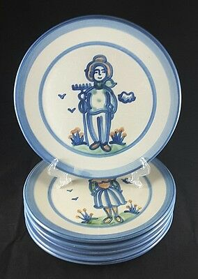 "Hadley Country Scene Six (6) 11"" Dinner Plates"
