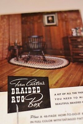 Fern Carter's Braided Rug Box Rug Making Kit Vintage
