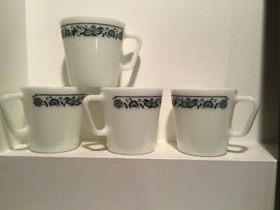 Pyrex Mugs - Olde Town Blue - Free Shipping - Made In USA