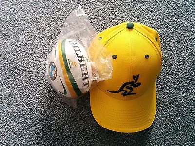 NEW Rugby Wallabies Hat / Cap and Small Soft Football